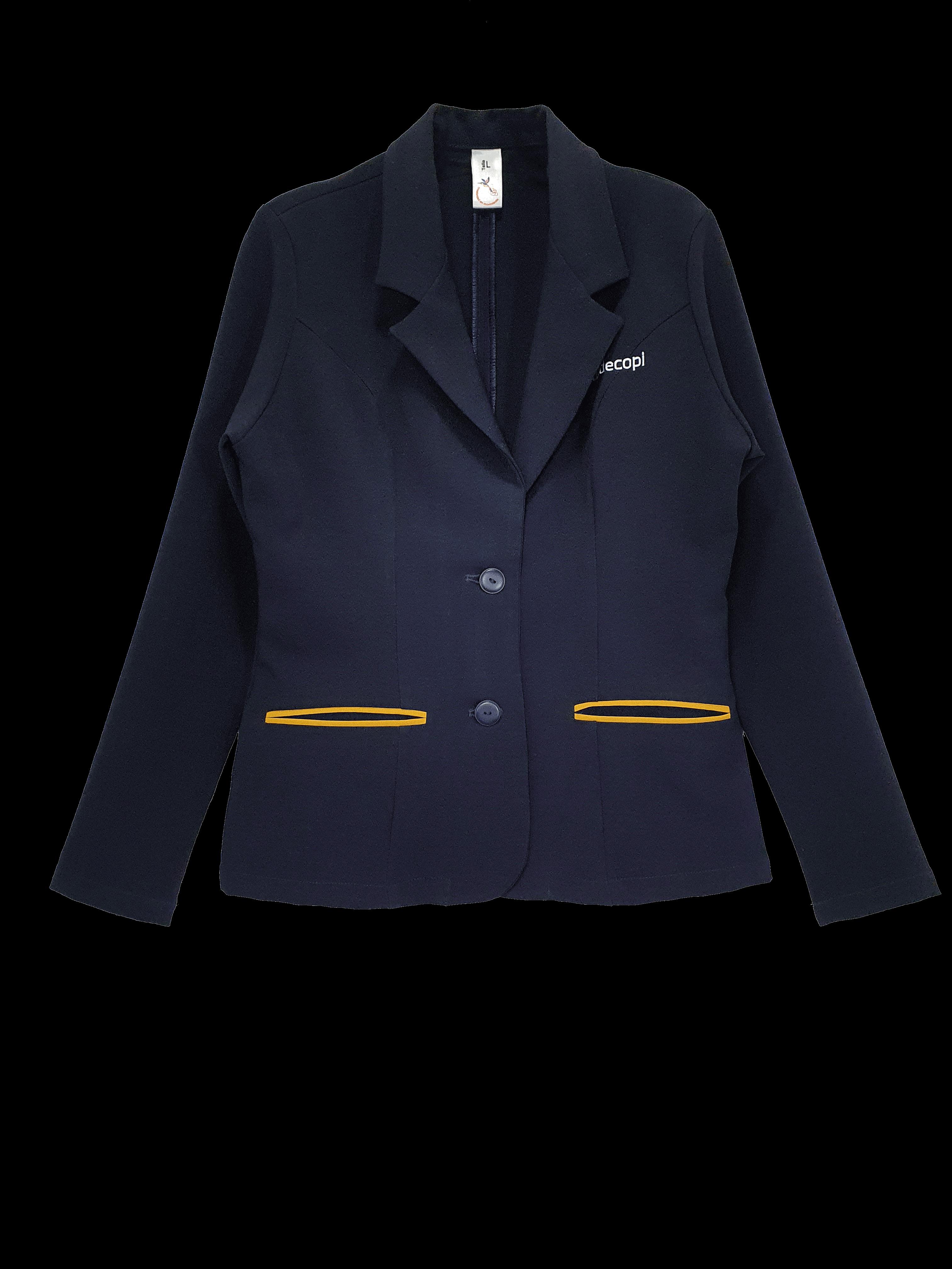 Chaqueta tipo blazer, formal para oficina. Variedad de materiales, diseños y tecnicas
