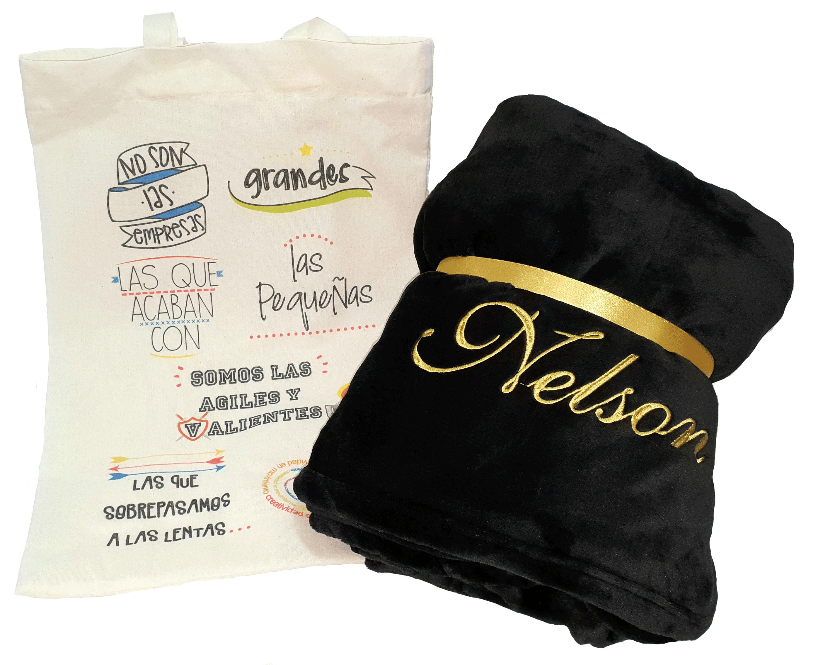 Cobijas personalizadas para regalos, marcas, eventos.