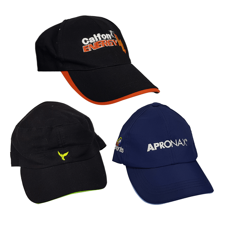 Gorras publicitarias nacionales, variedad de diseños y materiales.