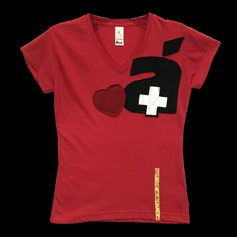 Camiseta tipo t-shirt en algodón y poliéster